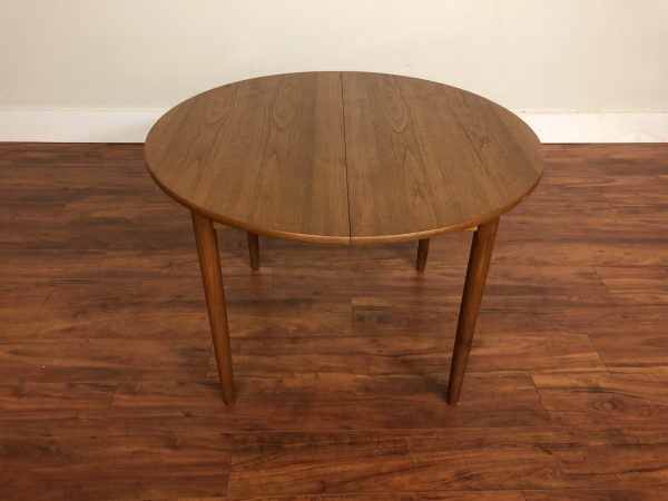 Small Round Teak Dining Table With Leaf – $995