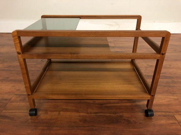Danish Teak Low Bar Cart – $550