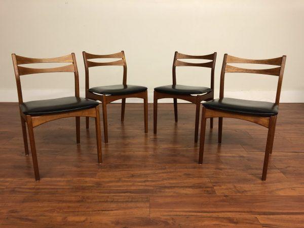 SOLD – Danish Modern Teak Dining Chairs, Set of 4
