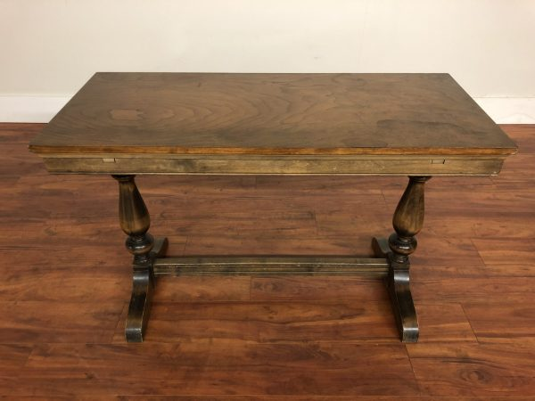 Vintage Draw Leaf Library / Console Table – $395
