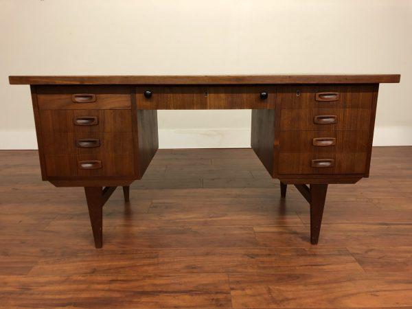 Vintage 9 Drawer Teak Desk – $1295