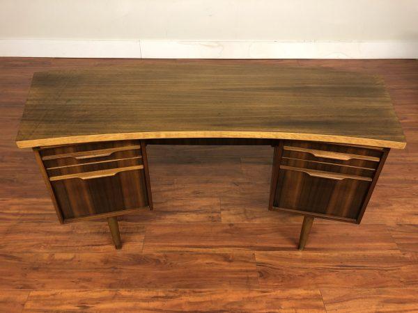 Mid Century Vintage Curved Top Desk – $1495