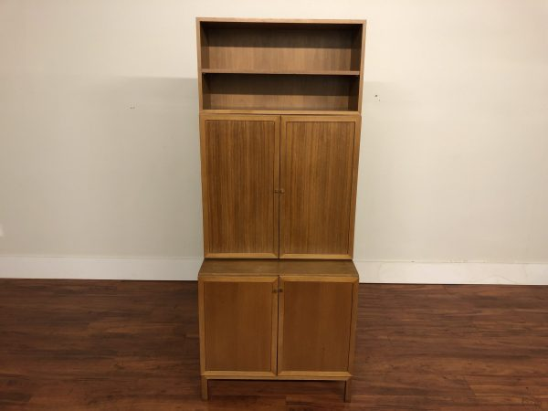 Mid Century Modular Teak Wall Unit Cabinet – $895