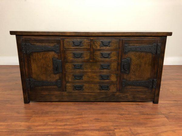 Vintage Korean Rustic Sideboard / Cabinet – $1375