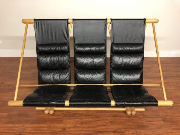 Vintage Custom Leather Sling Sofa – $2995